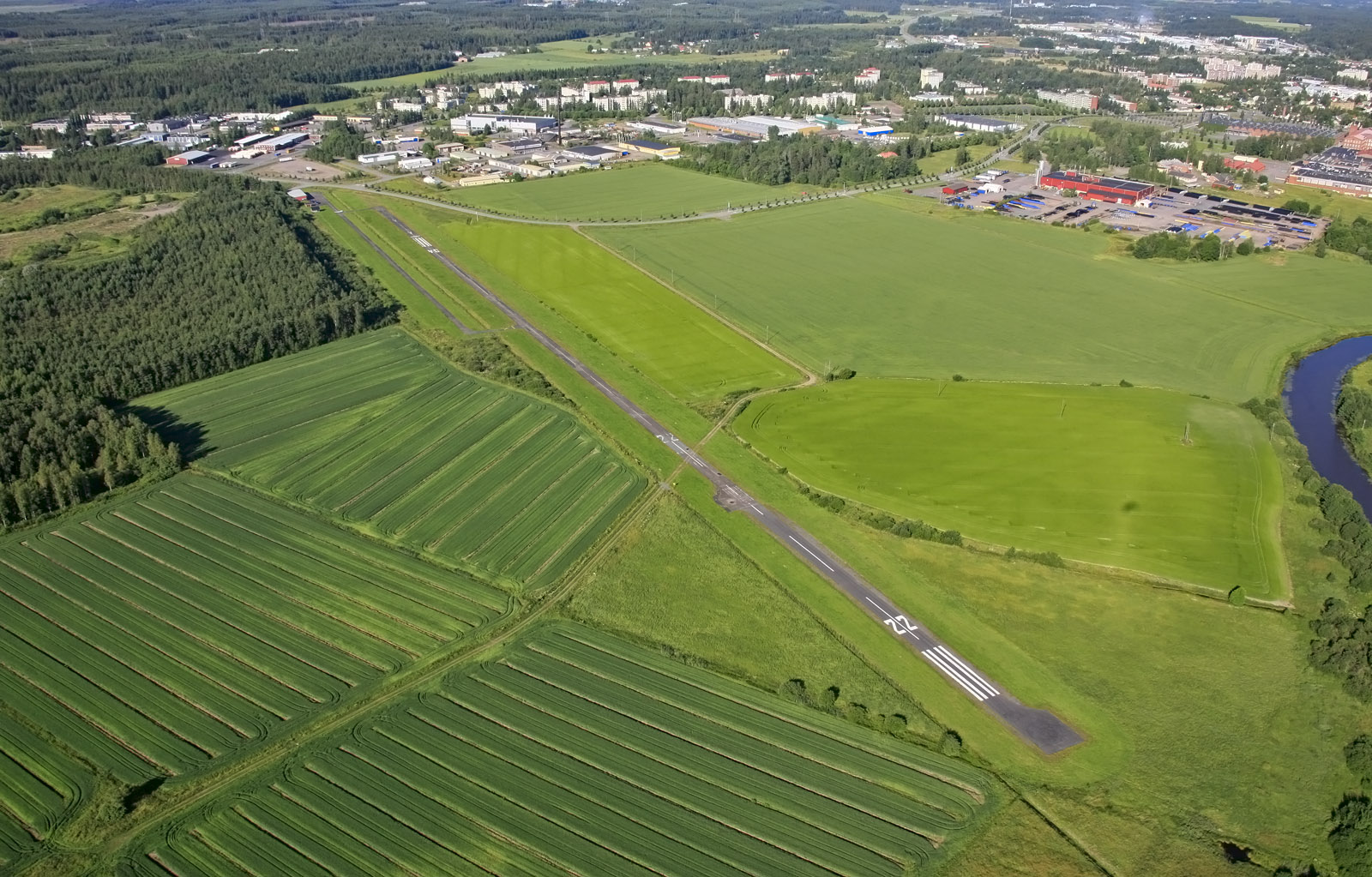 Aerial view of Forssa air filed (EFFO)